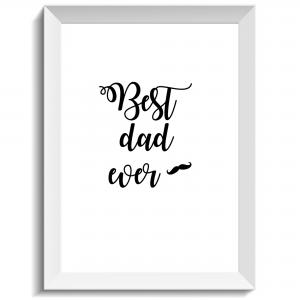 Best dad ever, print, poster, affisch, grafisk, design, pappa, morfar, farfar, fars dag, farsdag, present, tavla, tavlor, inredning, heminredning, interiör, interior, ruff & stuff, ruff o stuff, ruffostuff