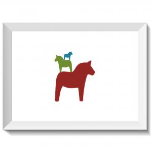 Minipyramid av dalahästar, vår, dalahäst, dalahorse, print, poster, affisch, grafisk, design, present, tavla, tavlor, inredning, heminredning, interiör, interior, ruff & stuff, ruff o stuff, ruffostuff
