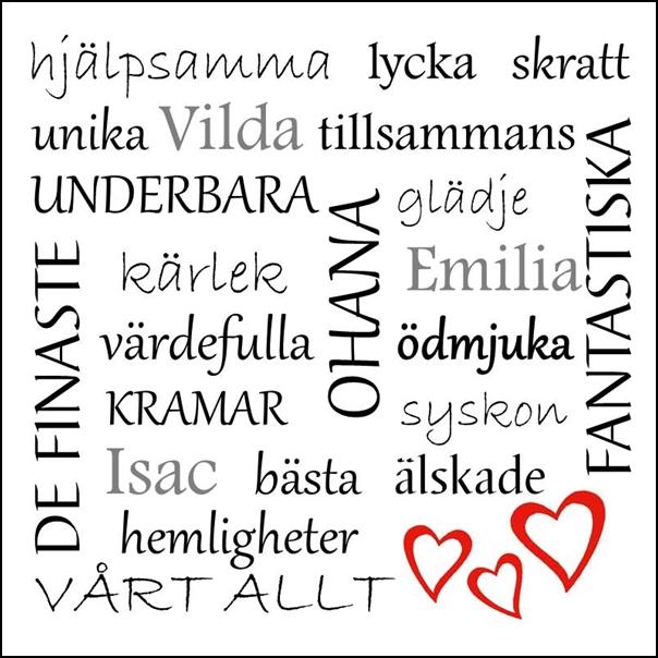 Inglasad Huller om buller tavla med dina unika ord, present, gåva, kärlek, bröllop, förlovning, inredning, interior, interiör, grafisk, design, print, poster , tavla, ruff & stuff, ruff o stuff, ruffostuff