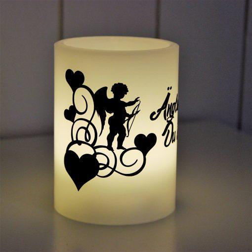 Blockljus LED änglar finns du är en, block, ljus, vinyl, grafisk, design, mamma, mormor, morfar, farfar, mors dag, morsdag, fars dag, farsdag, present, inredning, heminredning, interiör, interior, ruff & stuff, ruff o stuff, ruffostuff