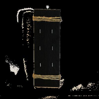 Svart nyckelhållare i trä, nycklar, jute, snöre, jutesnöre, present, gåva, inredning, heminredning, interiör, interior, ruff & stuff, ruff o stuff, ruffostuff