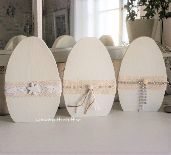 Stående ägg i trä, present, gåva, påsk, påskpresent, påskägg, ägg, inredning, heminredning, interiör, interior, ruff & stuff, ruff o stuff, ruffostuff