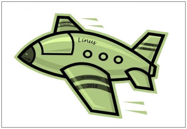 Namntavla med flygplan som lyfter ditt barn, grön, namntavlor, doptavla, doptavlor, barntavla, barntavlor, dop, födelse, gåva, present, barnrum, inredning, interior, interiör, grafisk, design, print, poster , tavla, ruff & stuff, ruff o stuff, ruffostuff