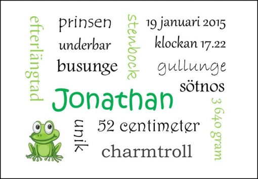 Namntavla Huller om buller tavla med dina unika ord, groda, namntavlor, doptavla, doptavlor, barntavla, barntavlor, dop, födelse, gåva, present, barnrum, inredning, interior, interiör, grafisk, design, print, poster , tavla, ruff & stuff, ruff o stuff, ruffostuff