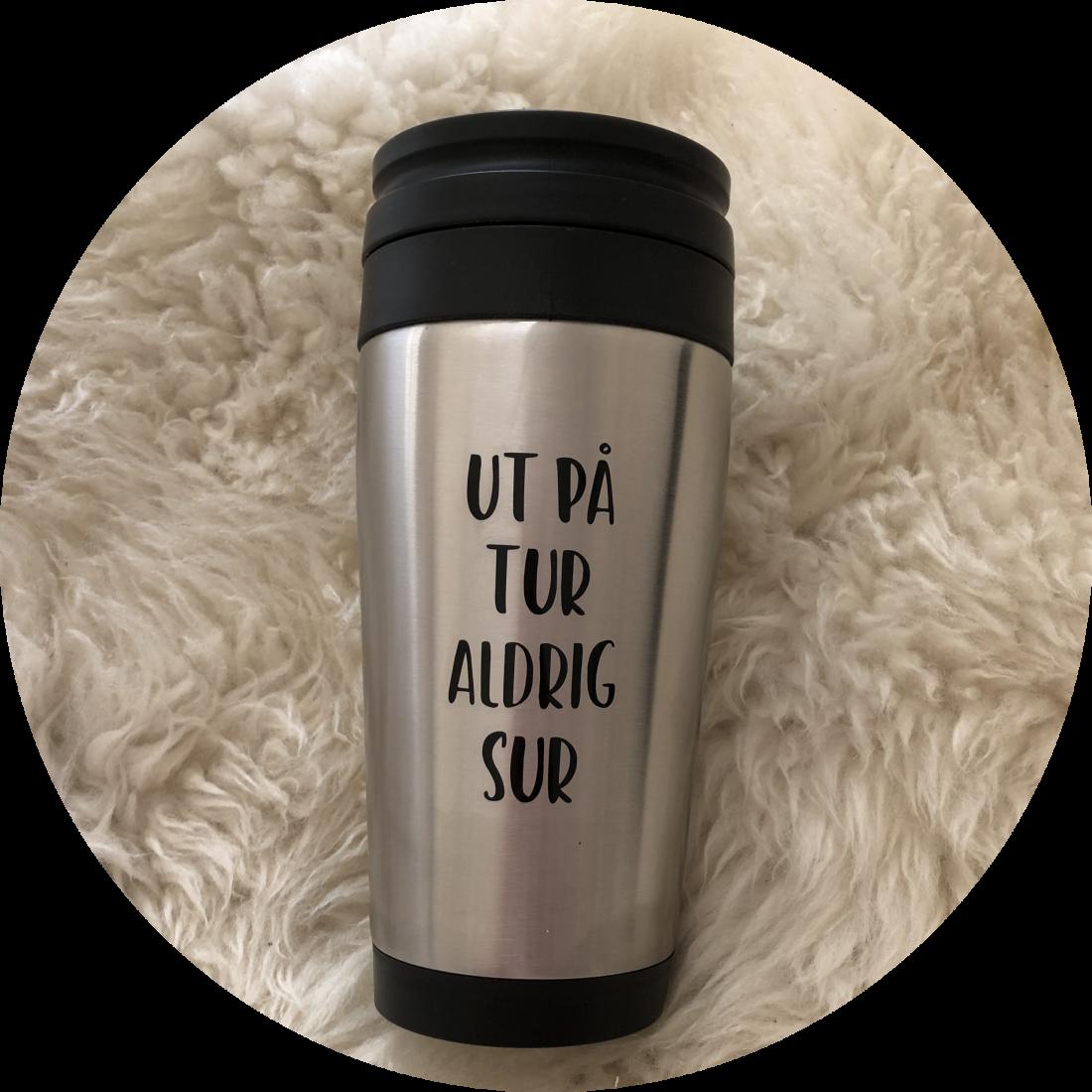 termosmugg, kaffemugg, termos, mugg, kaffe, tryck, vinyl, dekal, citat, ruff & stuff, ruff o stuff, ruffostuff, fri frakt, fraktfritt