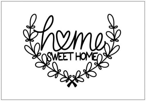 Home sweet home, citat, print, poster, affisch, grafisk, design, present, tavla, tavlor, inredning, heminredning, interiör, interior, ruff & stuff, ruff o stuff, ruffostuff