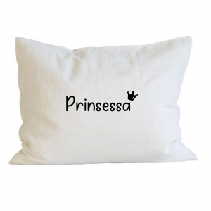 Örngott prinsessa, kärlek, dop, födelsedag, present, gåva, dopgåva, doppresent, textiltryck, htv, tryck, textil, kudde, kläder, vinyl, dekal, ruff & stuff, ruff o stuff, ruffostuff