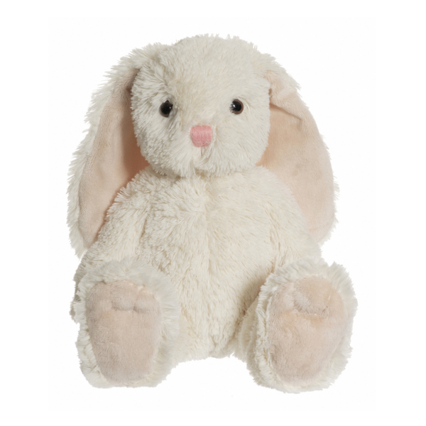 Gosedjur kanin creme/rosa med födelseuppgifter, barn, kärlek, dop, födelsedag, present, gåva, dopgåva, doppresent, födelseuppgifter, födelse, textiltryck, htv, tryck, textil, gosedjur, kläder, vinyl, dekal, ruff & stuff, ruff o stuff, ruffostuff
