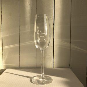 Etsat glas med dalahäst på - 2-pack Champagneglas 22 cl